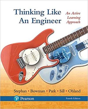 Thinking Like an Engineer solutions manual